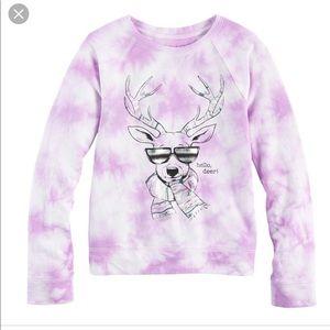 Mudd Reindeer Pullover Sweatshirt